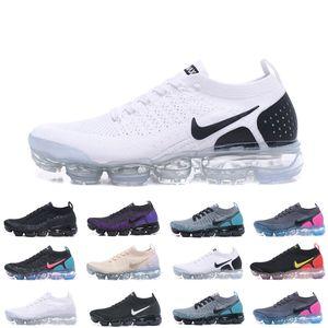 Nike Vapormax flyknit air max 핫 CHAUSSURES는 Moc 2 Laceless 2.0 캐주얼 신발 삼중 남성 여성 스니커즈 플라이 블랙 니트 스포츠 에어 쿠션 운동화 Zapatos MK5166