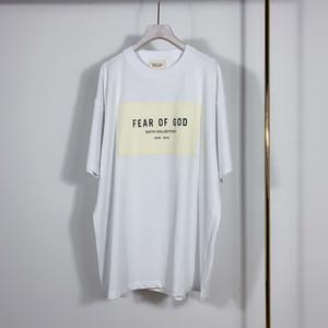 Tanrı Altıncı Koleksiyon Patch Sticker Tee Kaykay Of 2020 İlkbahar Yaz 6 Korku Tişört Sis Erkekler Kadınlar Kısa Kollu Casual T Shirt Soğuk