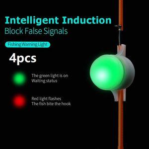 4 шт Мини светодиодный свет Автоматическая Индукция Рыбалка Сигнализация Rod Совет Карп Night Fishing Light Auto Recognition Укус сигнализации