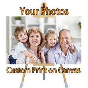 Drop Ship personnalisée impression de votre photo sur toile et soie Peinture imperméable poster Vaporiser une grande impression Y200102 de Poster Image Cuadros