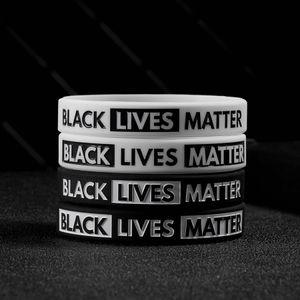 Siyah Hayatlar Matter Silikon Bileklik Black Silikon Kauçuk Bileklik Bilezik İçin Erkekler Kadınlar Hediyeler Parti Favor RRA3147 NEFES CAN NOT