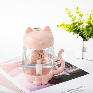 3 in 1 350ML USB Air Humidifier Ultrasonic Adorable Mini Humidifier With LED Light Mini USB Fan for Home office