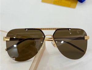fashion Luxury evidence sunglasses retro vintage men Z1261E designer shiny gold frame laser logo women top quality with package