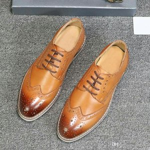 New highquality mens wedding shoes Brock casual leather fashion British style mens formal shoes leather dress formal suit leather shoes wqa