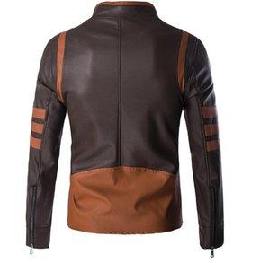 Fashion- neue Qualitäts-PU-Lederjacke beiläufige Art und Weise Wolverine mit Retro-Leder Kragenjacke