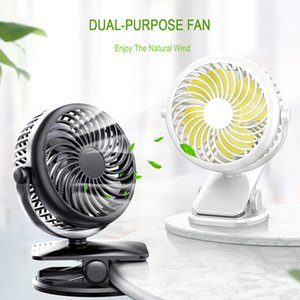Clipe USB Fan Cooling Mini ventiladores portáteis de Spin 4 Speed ​​Super Mute Refrigerador para o Office Desktop Legal Fan Car Home Viagem Gadgets