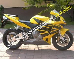 Для Honda Motorcycle CBR 600 600RR CBR600RR 03 04 CBR600 RR F5 CBR600F5 2003 2004 Комплект обтекателя Желтый Черный (Литье под давлением)