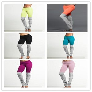 Mode Vert Collants running Jaune Sport Leggings Pantalons de yoga rose Pantalons Patchwork Fitness Skinny Slim femmes Leggings Gym Push Up Sexy