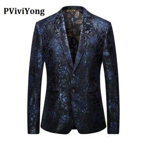 PViviYong Brand 2019 высокого качества костюмы Пиджаки Европейского стиля костюм куртка мужчину для партии банкет пригонки мужского костюма поверх 6103