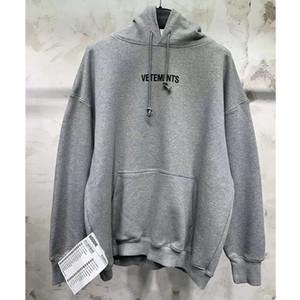 Vetements Hoodie Street Qualitäts-loser großer Tag Vetements Sweatshirts Herbst-Winter-beiläufiger Stickerei Pullover