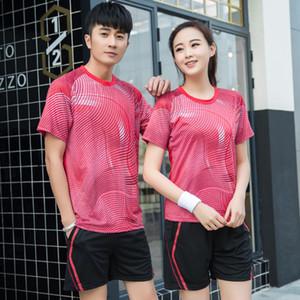 Großhandels-Freies Drucken Neue Qucik trocken Tischtennis Kleidung, Badminton Sportbekleidung Damen / Herren, Tennis Anzug, Badminton Verschleiß Sets A106