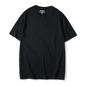 Tasarımcı T Shirt Erkekler Yaz marka gömlek Katı Renk Tişörtleri Mektuplar Baskı Erkekler Moda Sokak Stil Marka T Shirt 2 Colors1