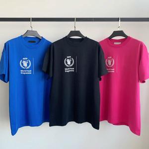 2020SS Programma Alimentare Mondiale Tee Fashion Casual cotone con girocollo Coppia donne e mens progettista manica corta di alta qualità T-shirt HFXHTX065