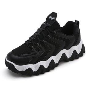 Zebra Big Sole Chunky Dad Sneakers 2020 Men Platform Walking Shoes Wave Bottom Boy Street Dance Casual Shoes Fashion Men
