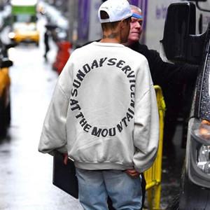19FW dimanche service Sweat-shirt ras du cou moussé Lettre Imprimer Terry rue Pull Hoodies Automne Hiver Outwear HFYMWY288