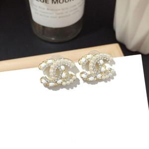 Pendiente del perno prisionero del oro pendientes del encanto de las mujeres del diseñador 18K nueva joyería de los pendientes de lujo de la boda 316L de acero de titanio Silver Rose