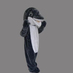 Taille adulte Animal Gris Dauphin Mascotte Personnalisé Noël Mer Animal Dauphin Costume De Déguisement Masculin Shool Événement Anniversaire Fête Costume Mascotte