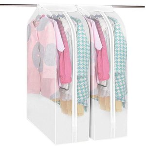 Dust Prevention Wardrobe Storage Bags Reusable Hanger Coat Clothes Garment Suit Cover Organizer Case for Clothes