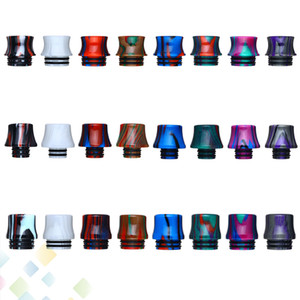 810 510 Stripe Epoxy Resin Drip Tip vape mouthpiece Newest Wide Bore driptip for 510 thread 810 Atomizers Accessories DHL