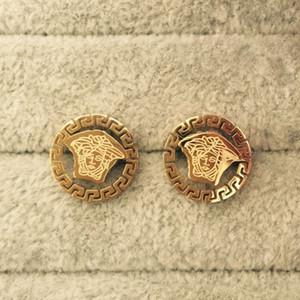 Высокое Качество Великолепные Ювелирные Изделия Мода Мальчики 316L Из Нержавеющей Стали Стиль из Нержавеющей Сталь Позолоченные Круглая Письмо Серьги Син для мужчин Женщины Оптовая