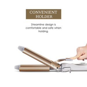 Professional hairdressing tools iron ceramic three hair cylinder hair stylist styling tool electric curling iron