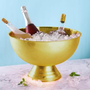 Hickening aço inoxidável tamanho grande bacia balde de gelo balde de gelo balde de gelo champanhe festa comida saladeira