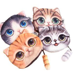 Tasarımcı-Kızlar Için Sevimli Kedi Coin Çantalar Karikatür Kadife Cüzdan Kadın Çocuklar Için makyaj Çantası Coin Kılıfı Tutucu Fermuar kozmetik Çantası Toptan