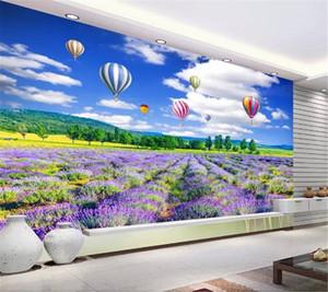 Пользовательские обои 3d Лаванда цветок море красивый пейзаж Гостиная Спальня фона украшения стены обои