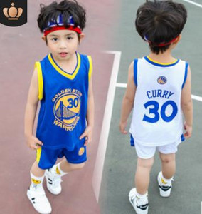 New Baby Boys Sports 30 Number Ball Suit Set para niño y niña Jersey Chaleco Pantalones cortos Conjunto de dos piezas Chándales Ropa de niños Conjuntos