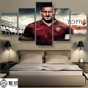 Serie A AS Roma Totti,5 Pieces HD Canvas Printing New Home Decoration Art Painting Unframed Framed