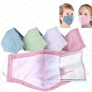 Çocuk çocuk pamuk maskeleri pm2. 5 anti toz pus ağız kapakları maske 5 katmanlar koruyucu toz geçirmez kullanımlık yüz maskesi ile bir filtre E4905
