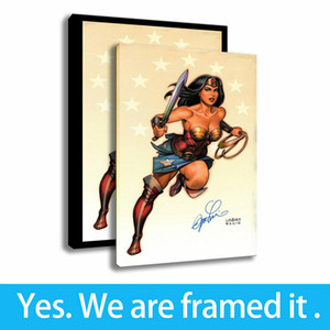 Canvas HD Print Wonder Woman Art Decorative Famous People Paintings Framed Art - Ready To Hang - Support Customization