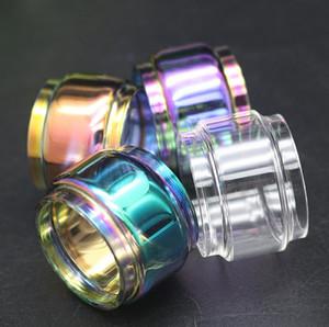 20 adet Otantik Yağ Uzatın Yedek Pyrex Cam Tüp Vandy Vape Kylin V2 Atomizer Tankı Gökkuşağı Temizle Renk Cam Tüp