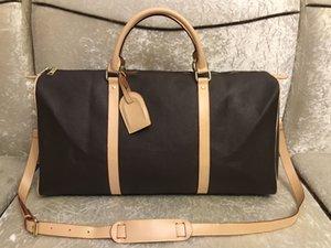 2020 hommes duffle femmes sac de voyage sacs Voyage sac design de luxe bagage à main hommes sacs à main en cuir PU grand sac mortuaire croix totes 55cm