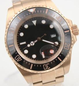 44 мм автоматический золотой браслет из нержавеющей стали дата мужские часы топ 2813 черный циферблат керамический топ кольцо светящиеся руки сапфир механический
