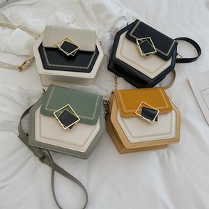 4styles Contrasto colore tracolla catena cross-match crossbody bag custodia telefono tasca fresca ragazza lady regalo per feste borse pu FFA2762-1
