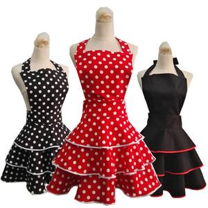 Neue hochwertige Baumwollschürze Retro niedliche Schürze für Frau Küche Veranstalter Ceremonial Kleid Avental Delantal grembiule tablier Y200103