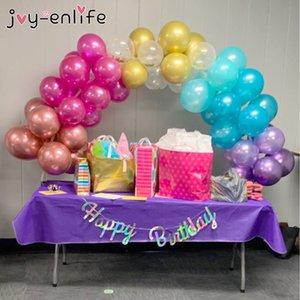 JOY-ENLIFE 38pcs / set Plastic Balloon Arch Kit Fiesta de cumpleaños Wedding Balloon Arch Party Decoration Baby Shower Festival Supplies SH190913