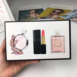 Marke Makeup Set Sammlung Matte Lippenstift 15ml Parfüm 3 in 1 kosmetische Kit mit Geschenkkarton für Frauen