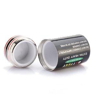 4.5 * 2.4cm monedas Nueva Ocultos dinero de contenedores caja de batería Secret Stash seguro de la diversión Cajas de almacenamiento de la batería
