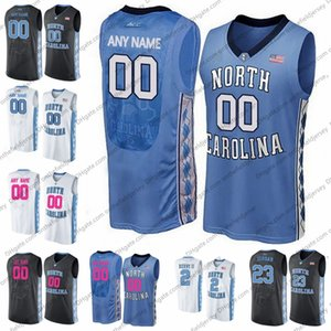 Talones Custom Carolina Tar 2 Coby Blanco 5 Nassir pequeño 13 C. Johnson Jersey Baloncesto UNC III 32 Lucas Maye 24 Kenny Williams