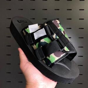 SUICOKE DT MOTO-VS x Creme Frühling Sommer Sandalen Frauen Modedesignerschuhe Männer echtes Leder flache Ferse mit Kasten