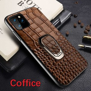 Crocodile Texture Phone cases For iPhone 11 pro X XS XR XS Max 7 8 Plus Leather Cover Magnetic Suction Ring Bracket fundas