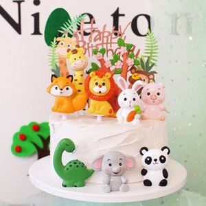 Cartoon Animals Themed Decorative Cake Topper Decoration Home Party Dessert Cake Decorating Accessories Decorating Supplies