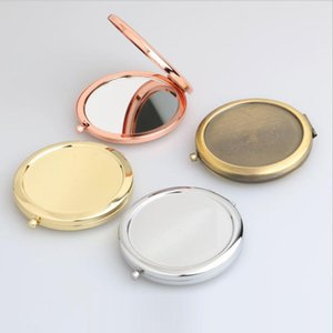 Portable Folding Mirror Makeup Cosmetic Pocket Mirror For Makeup Mirrors Beauty Accessories DIY Party Favor Supplies