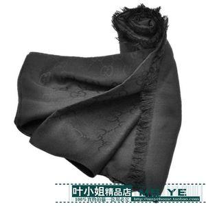 Высокое качество знаменитости дизайн письмо тиснение кашемир шерсть хлопок шарф обернуть шаль 479763 3G187 4175 большие квадратные шарфы 140 * 140см черный
