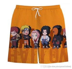 Imprimé en vrac Hommes Shorts Fashion Designer Homme pantacourt Hommes Naruto Plage Shorts de planche d'été