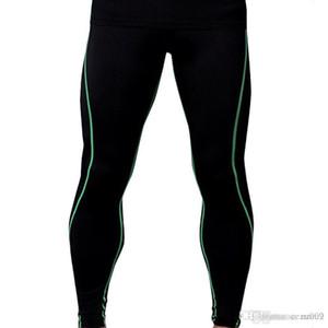 Fitness Masculino Baloncesto Correr Pantalones Pantalones de compresión Elástica Pantalones rápidos Deportes Apretado siete puntos MA42