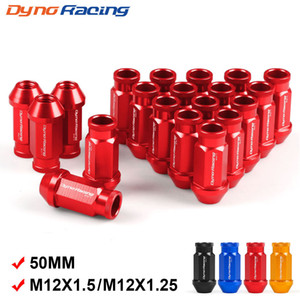 Dynoracing Aluminio del billete de carreras de ruedas Tuercas M12x1,5 / M12x1.25 para Honda para Ford para Toyota 20pcs / set