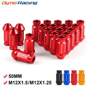 Dynoracing Billet الألومنيوم سباق عجلة عجلة المكسرات M12X1.5 / M12X1.25 لهوندا لفورد لتويوتا 20 قطعة / المجموعة